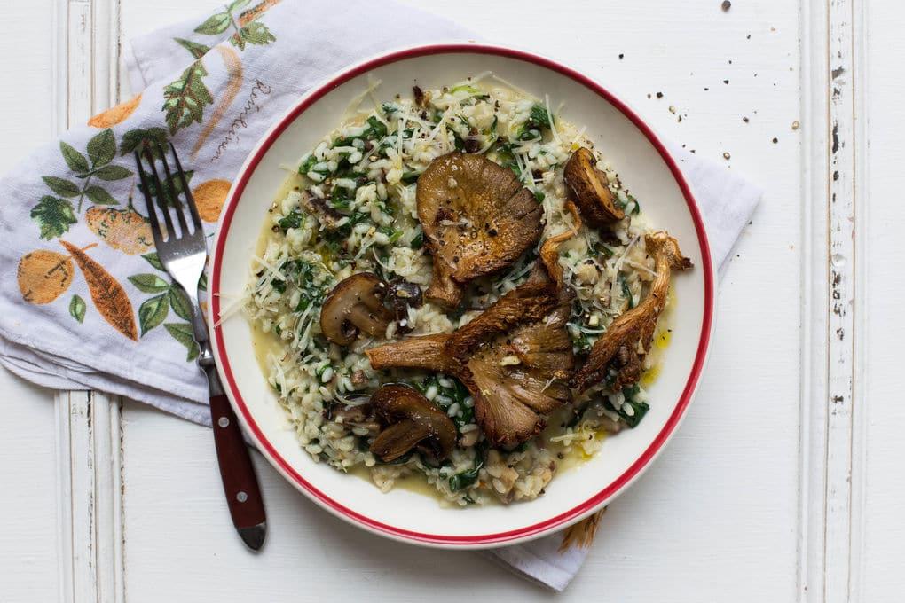 risotto met spinazie vegetarisch