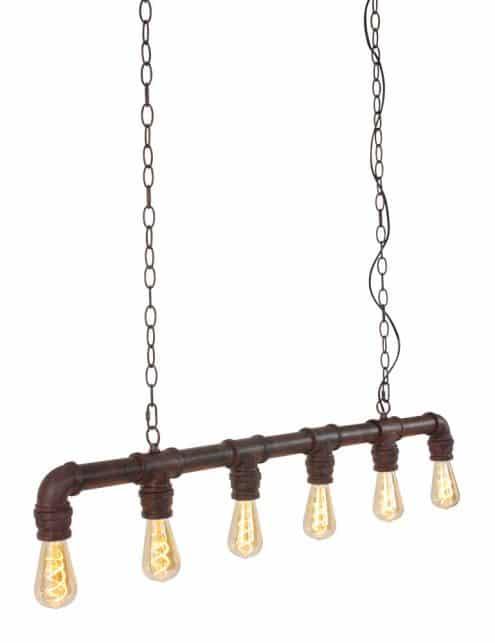 stoere hanglamp boven bar