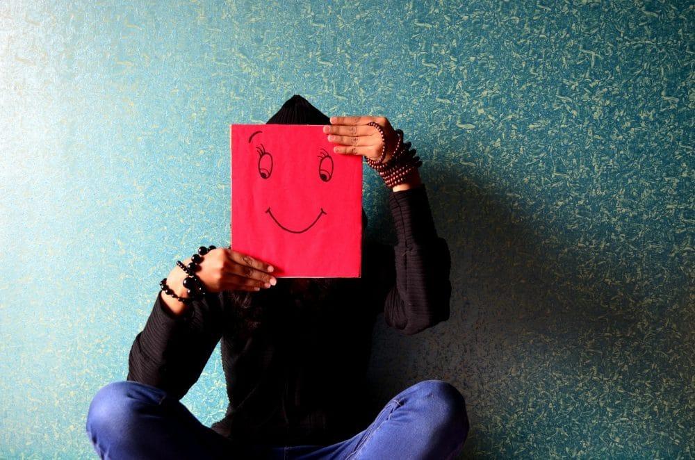 depressie voelt als een masker
