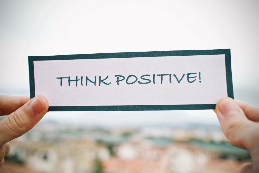 blijf positief