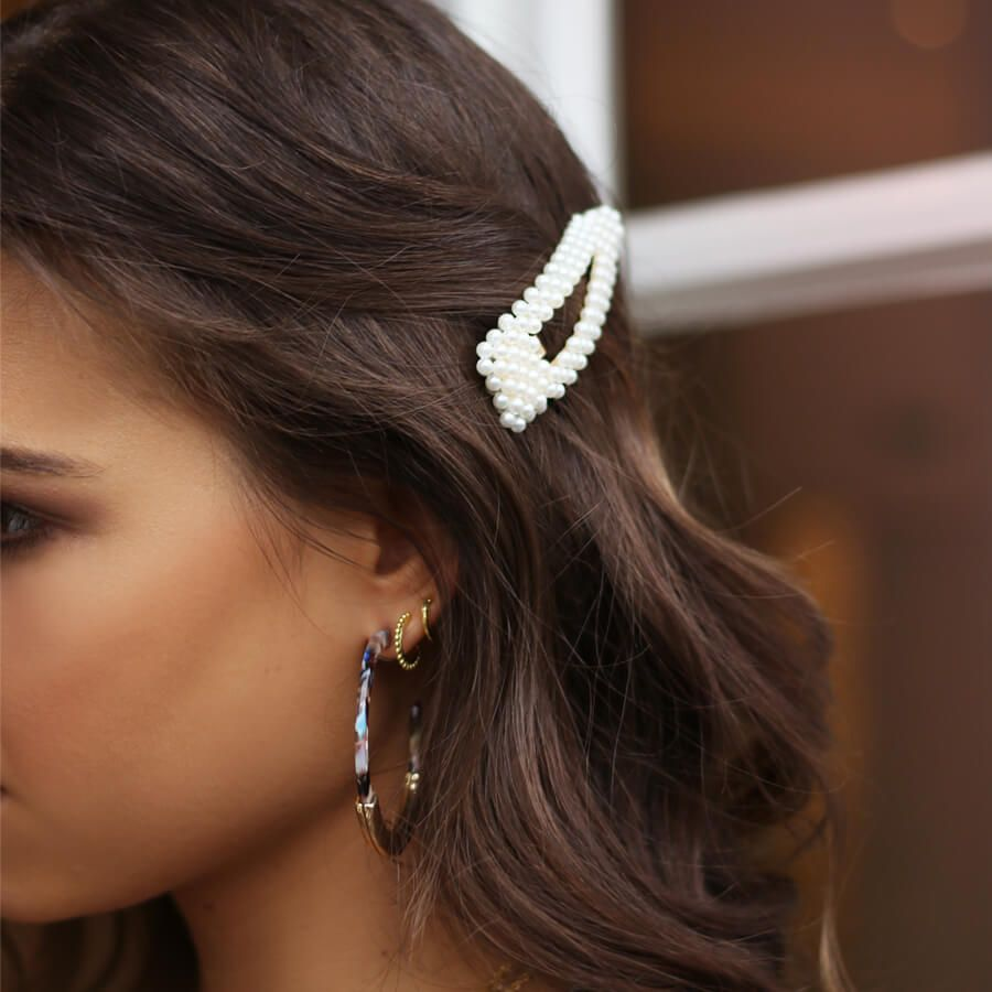 haarspeld met parels