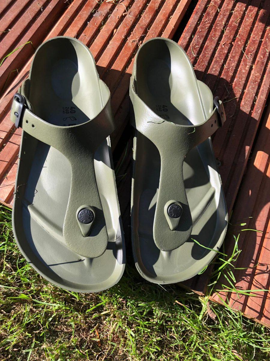birkenstock slippers groen