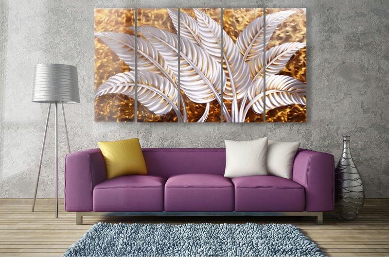 aluminium schilderij goud