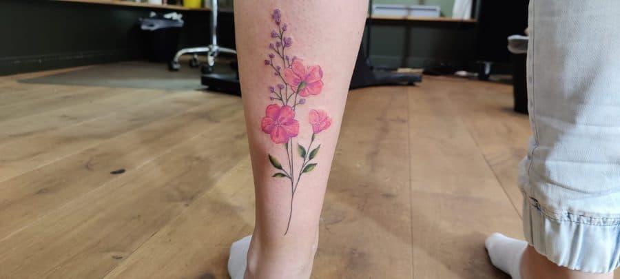 bloemetjes tattoo