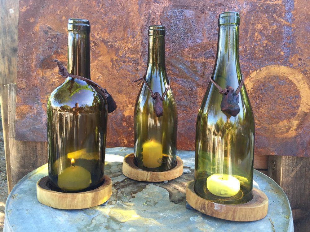 upcycling kaarsenhouders van flessen
