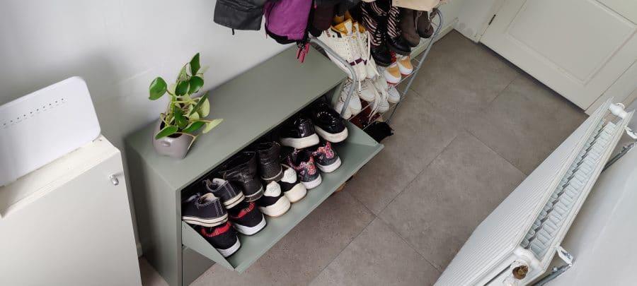 groen schoenenkastje spinder design